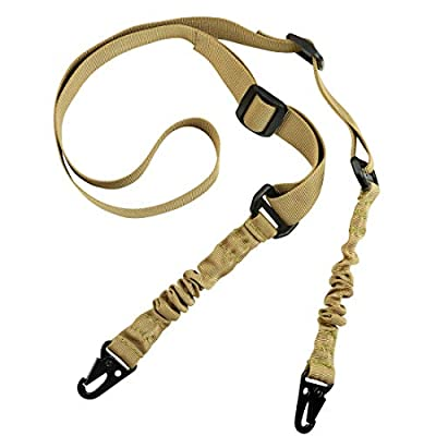 Back At Dark - 30 Gun Sling, Tactical Gun Sling, Gun Slings, Tactical Gun Slings, Adjustable Gun Sling with 2 Metal Hooks, Gifts for Men, for Dad, Two Point Gun Sling (Tan, 70)