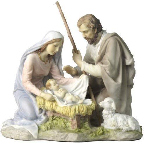 Biblegifts - Statua del presepe di Maria Giuseppe Bambino Gesù Veronese, in confezione regalo, ricordo della famiglia cimelio