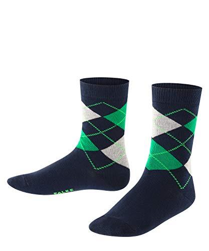 FALKE Kinder Socken Classic Argyle - 83prozent Baumwolle, 1 Paar, Blau (Marine 6121), Größe: 31-34