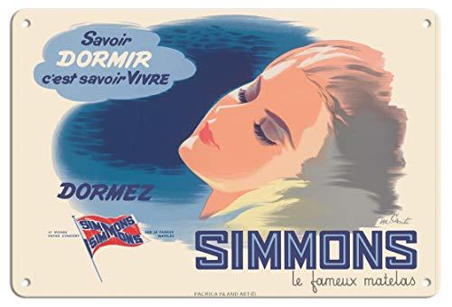 Pacifica Island Art Poster, Motiv Simmons Matratze, Vintage, von Marcel Santi 1950er...