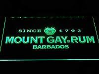 Mount Gay Rum LED看板 ネオンサイン ライト 電飾 広告用標識 W30cm x H20cm グリーン