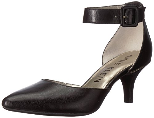 Anne Klein Women's Fabulist Leather, Black, 7.5 M US