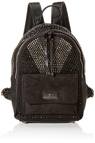 XTI 86144, Bolso mochila para Mujer, Negro (Negro), 26x33x12