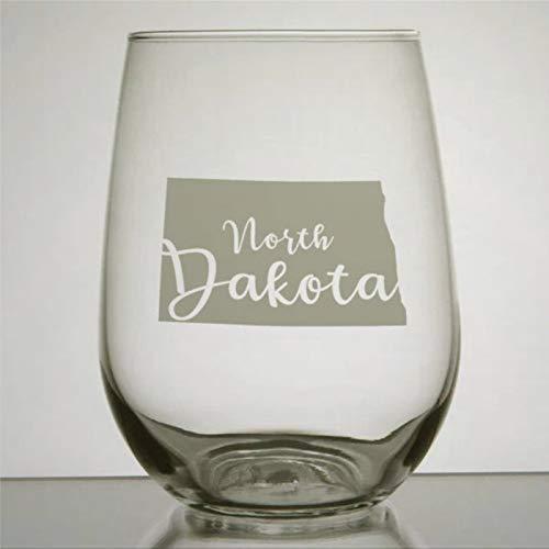 North Dakota Verre à vin sans pied en cristal gravé Verre à liqueur Parfait pour père, maman, garçon ou petite amie