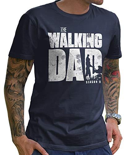 Stylotex Divertida camiseta para hombre para el Día del Padre   The Walking Dad   regalo para futuros papás.