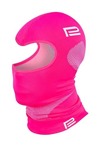 Prosske PSS Sturmhaube Thermo EXTREM 2.0 Damen Herren Kinder Skihaube Balaclava viele Farben (rosa-grau, XL/XXL)