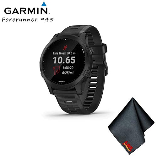 Best Bargain Garmin Forerunner 945 GPS Running Smartwatch with Music (Black) Base Bundle