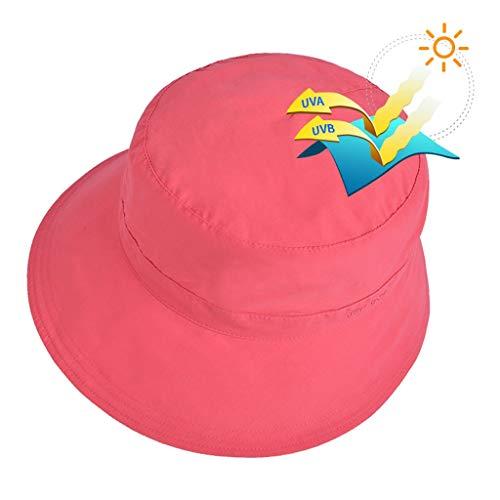 Chica Anti-UV Sombrero for el Sol Carmon 3-6 años de Edad, Gorra de Verano, Visera, Transpirable, sección Delgada, Sombrero de Pescador Sombrero