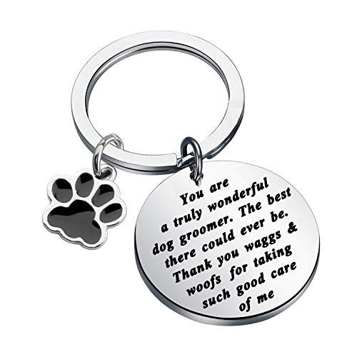 FOTAP Dog Groomer Gift Pet Groomer Gift Dog Grooming Gift Dog Salon Gift Dog Groomer Thank You Gift (waggs & woofs Key)