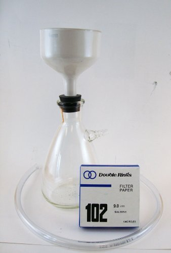 Filter Flask Set, 1000ml with Funnel, Stopper and Filter Paper