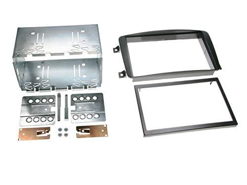 Doppel 2 DIN Radioblende passend für Mercedes C / CLK Klasse / Vito / Viano schwarz