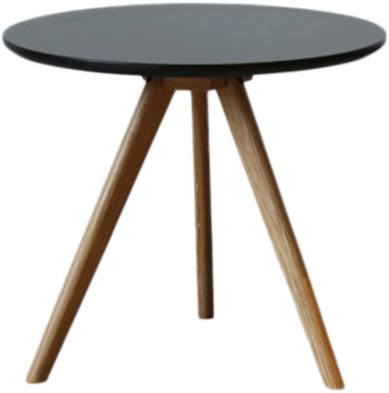 CSQ Coffee Table, Living Room Sofa Bedroom Small Round Table Creative Modern Minimalist Style Furniture Balcony Triangular Leg Three colors  32-50 cm (color   Black, Size   A)