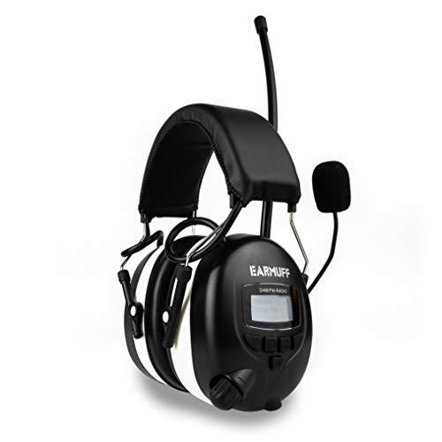 Earmuff Gehörschutz mit DAB+, FM & Bluetooth 31dB Dämmung | DAB+ Radio, Telefonieren & über Bluetooth Musik hören | elektronischer Ohrenschutz für Erwachsene | Baustellen, Gartenarbeit & Forstbetrieb