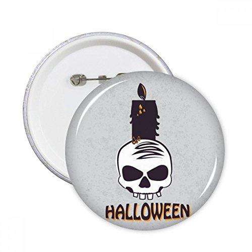 DIYthinker Halloween Kaarsen Schedel Heks Ronde Pinnen Badge Knop Kleding Decoratie 5 stks Gift S Multi kleuren