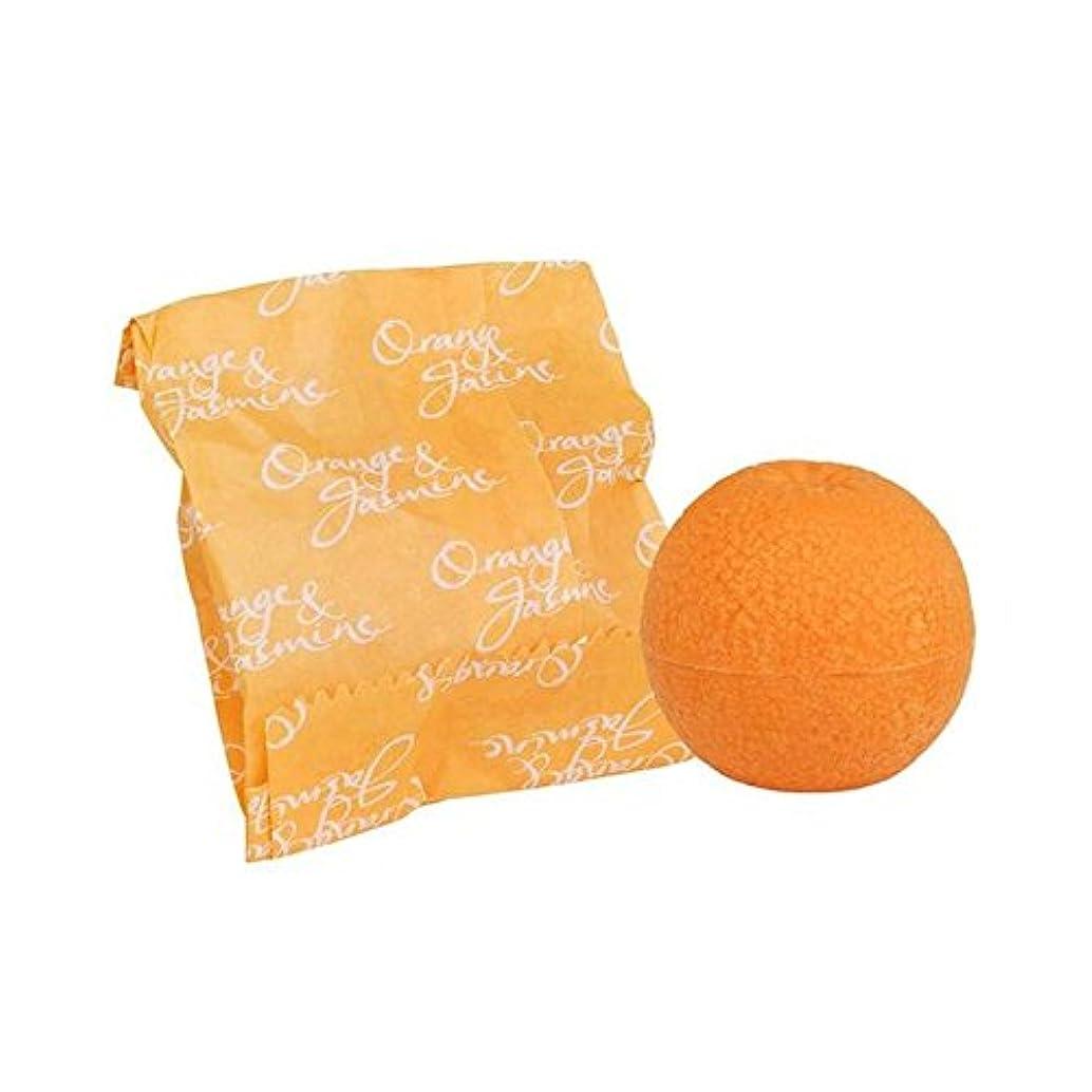 デッキ地殻パールオレンジ&ジャスミン石鹸100グラム x2 - Bronnley Orange & Jasmine Soap 100g (Pack of 2) [並行輸入品]