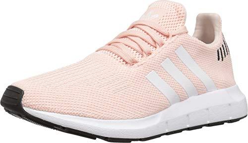 adidas Originals Women's Swift Run Sneaker, ice Pink/White/Black, 7.5 M US