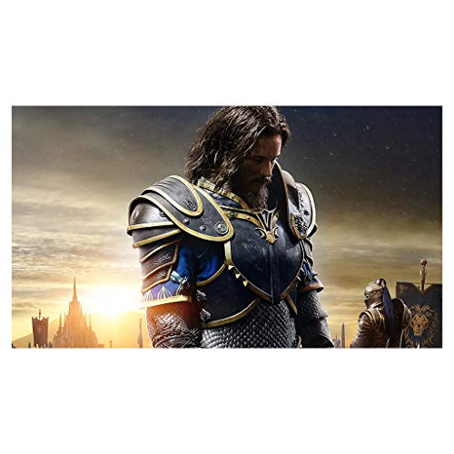 CFTGB World of Warcraft WOW AnduinLothar - Alfombrilla de ratón grande para juegos, alfombrilla de ratón extendida para ordenador PC (tamaño: 600 x 300 x 3 mm)