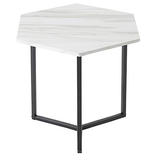 ルームアンドホーム テーブル 六角 ノルディック ブラック 37×37×45cm