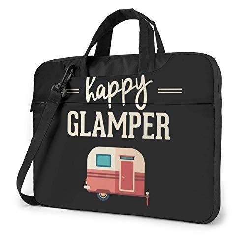 Laptop Case Bag Happy Camp Happy Glamper Notebook Sleeve Shoulder Bag Laptop Shoulder Bag with Strap 15.6 Inch