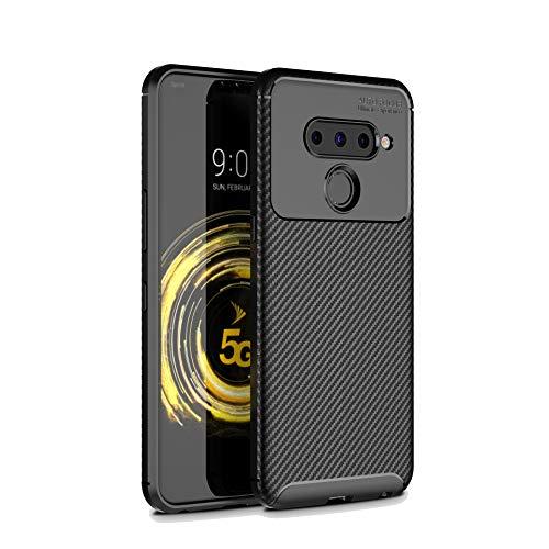 TenYll Hülle Für LG V50 ThinQ 5G, Superdünn Weich Silikon Schutzhülle [Advanced Shock Absorption Technology] Silikon Handyhülle LG V50 ThinQ 5G -Schwarz