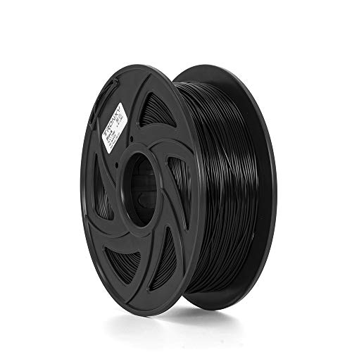 PLA Filament 1.75mm Black,3D Printing Filament PLA for 3D Printer, 1kg 1 Spool, Black