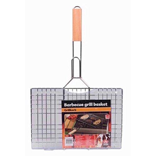Double Grille Barbecue Rectangulaire 35 x 24 - Accessoire Cuisine Grillade Été - 911
