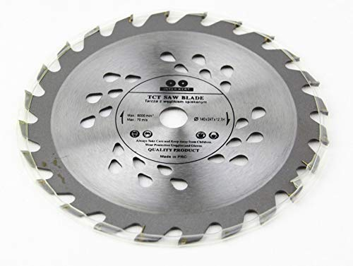 Hoja de sierra circular para madera (140 x 12,7 mm, 24 dientes)
