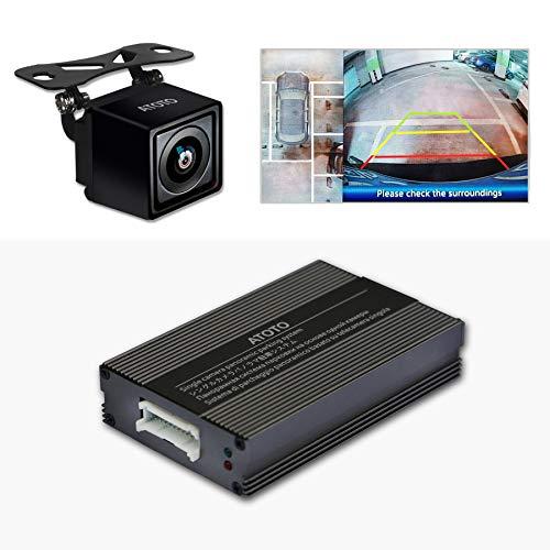 ATOTO AC-SC3601 Sistema di parcheggio per retrovisori con telecamera a vista singola - Utilizza la tecnologia di cucitura di immagini panoramiche - Vista dall'alto di Dintorni - Installazione semplice