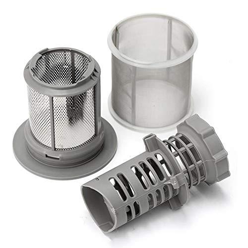 XCQ Hot 2-teiliger Geschirrspüler Mesh-Filter-Set Grauer PP für Bosch Geschirrspüler 427903 170740 Serie Ersatz für Spülmaschine dauerhaft 0402 (Color : Gray)