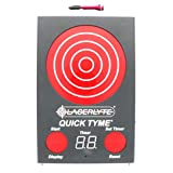 LaserLyte laser trainer UNIVERSAL and QUICK TYME target DRY FIRE sound activated LASER fits 380 ACP 9 MM 40 SW 45 ACP TARGET has 62 LEDs that light up with a SHOT TIMER records shooting on target