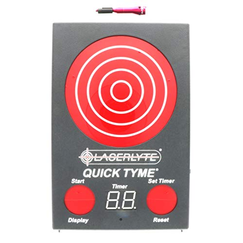 LaserLyte TLB-PQD Universal Laser Trainer and Quick Tyme Trainer Target with Point of Impact Display and Timed Games for Handguns, Dry Fire Practice