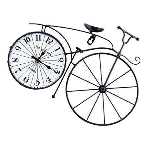 GARNECK Reloj de Mesa de Bicicleta Vintage en El Soporte Reloj de Escritorio de Metal de Bicicleta Lindo Reloj Decorativo Oficina en Casa Adornos de Escritorio