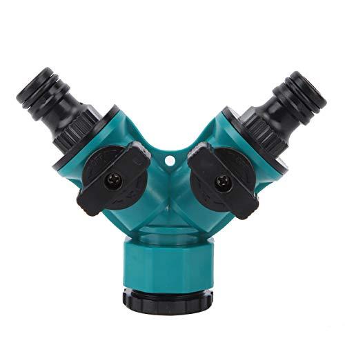 Conector adaptador de derivación Y para el hogar, divisor de agua del grifo de 2 vías, válvula de riego del grifo de jardín, adaptador de conector rápido de tubo de manguera