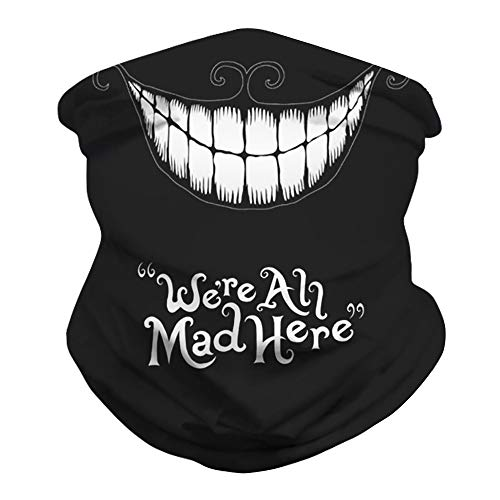 Mwfus Women Men Seamless Bandana Face Mask Breathable Neck Gaiter Rave Balaclava Mouth Cover for Sun Dust Protection(Smile)