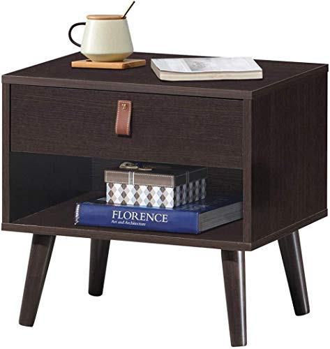 YRRA tiroir Rangement Table de Chevet Armoire de Chevet Meubles Fin Table d'appoint Coffre Parfait pour la Maison Chambre Salon