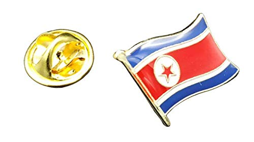 Pin de Solapa Bandera Mastil Corea del Norte 16x15mm   Pines Originales...