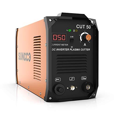 SUNCOO Plasma Cutter, With Digital Display 50A,110/220V ,1/2