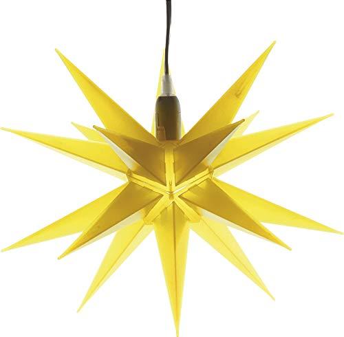 HGD CAS30189 Weihnachtsstern, Kunststoff, gelb, groß