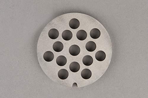 Placa para Máquina de Picar Carne Picadora de Carne n. 10 (Diámetro de los agujeros: 10 mm)