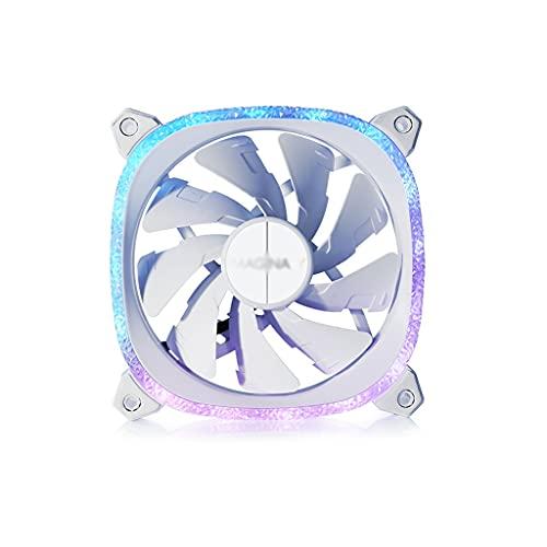 Enfriador 3 unids ArgB Case Fan Gaming 120 mm Super Silent Computer Alto Flujo de Airflow Fans 5V Placa Base Sync Radiador Ventilador Radiador líquido PC Ventilador (Color : White)