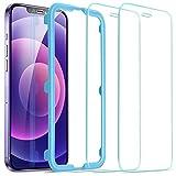 ESR iPhone 12 用 ガラスフィルム iPhone 12 Pro 用 ガラスフィルム 2枚入り 強化ガラス 液晶保護フィルム