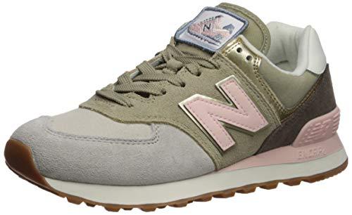 New Balance Women's 574v2 Sneaker Light Cliff Grey/Light Gold, 5.5 D US