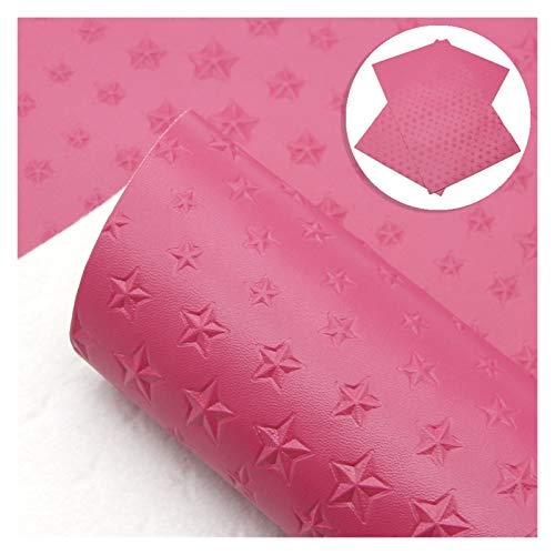 XUCZHAI Cuero Sintetico 3 PCS Sheepskin Pattern Texture Star Synthetic Sheets Hojas de Cuero en artesanía DIY Tela de Cuero sintética para los Arcos Polipiel para Tapizar (Color : 1104888002)
