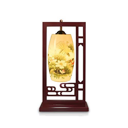 Lámpara De Mesa De Decoración China, Luz De Escritorio De La Calcomanía De La Cerámica, Interruptor De Botón E27, Sala De Estar Sofá Estudio Hotel XBDTD