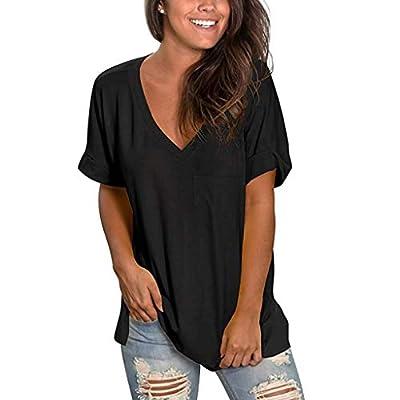 Aniywn Women Printed Side Split T-Shirt Tops Ladies Beach Tee Blouse