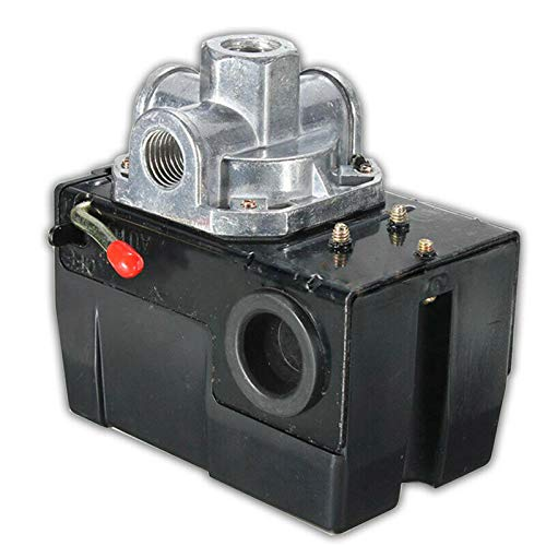 Read About 4Port 26 Amp Air Compressor Pressure Switch Control Valve 95-125 PSI