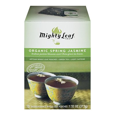 Mightly Leaf Tea Spring Jasmine Green Tea 15 Bag (Pack of 6)