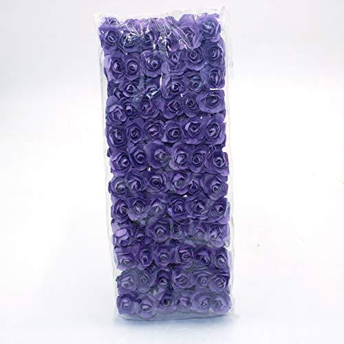 Realista 144 Mini Papel Artificial Rosa, Decoración, Ramo de la Guirnalda DIY del Libro de Recuerdos de la Boda Artificial de la Flor de Rose Artificial Flor de plastico (Color : 6)