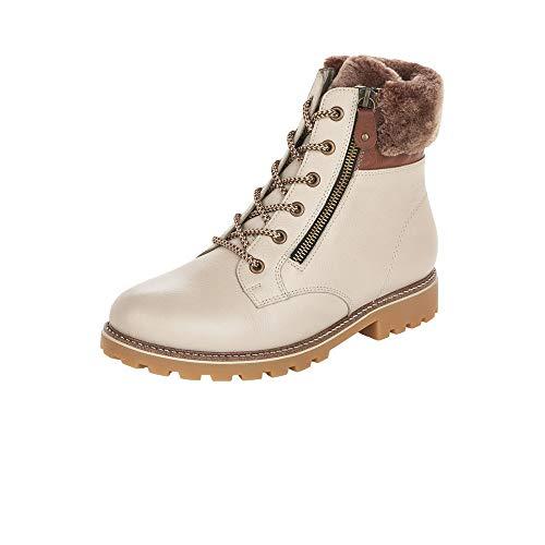 Remonte Damen D8463 Mode-Stiefel, crema/muskat/setter / 80, 40 EU