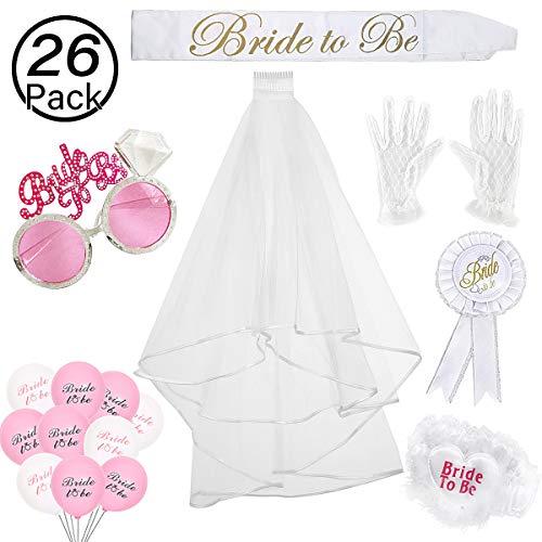 Yolistar 26 Piezas Bride to Be Accesorio Set Kit, Velo